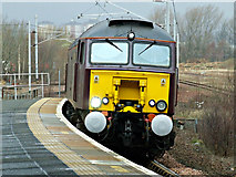 NS6162 : The Winter West Highland Statesman passing Rutherglen railway station by Thomas Nugent