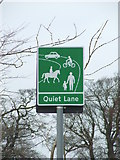 TM2743 : Quiet Lane Sign by Keith Evans