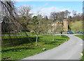 SK2569 : Village green, Edensor by Humphrey Bolton