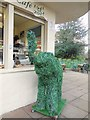 TQ3104 : Green Elephant by Pavilion gardens cafe by Paul Gillett