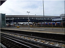 TQ2775 : Looking towards the carriage sidings at Clapham Junction by Marathon