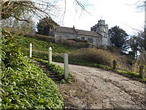 ST7807 : Ibberton: ascent to the church by Chris Downer