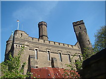 TQ3286 : View of the Castle Climbing Centre from Green Lanes #3 by Robert Lamb