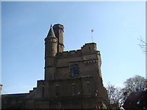 TQ3286 : View of the Castle Climbing Centre from the centre's car park #2 by Robert Lamb