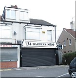 SE2534 : 134 Barbers Shop - Stanningley Road by Betty Longbottom