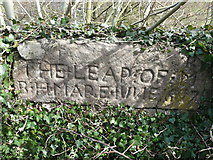 SK3057 : The 'Leap Stone' on Cromford Bridge by Humphrey Bolton