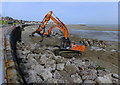 SH8479 : Sea defence work at Colwyn Bay (1) by Richard Hoare