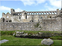 SM7525 : Part of the ruins of the former Bishop's Palace, St. David's by Jeremy Bolwell