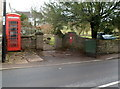 SO5005 : Church Street phonebox and postbox, Trellech by Jaggery