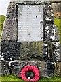 NM7236 : War Memorial Inscription, Craignure by David Dixon