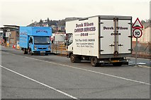 NM8529 : Goods Vans at Oban Ferry Terminal by David Dixon