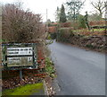 ST3796 : Old-style road sign, Parc Road, Llangybi by Jaggery