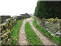 SE0420 : Cow lane, Ripponden FP57 by Humphrey Bolton