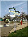 TL2668 : Signpost at Wood Green Animal Shelter by Adrian Cable