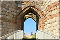 SJ5359 : The Portcullis at Beeston Castle by Jeff Buck