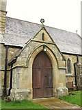 NY9371 : St. Giles Church, Chollerton - porch by Mike Quinn