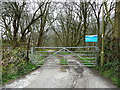 SE0420 : Entrance to Ripponden Sewage Works by Humphrey Bolton