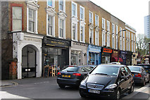 TQ2784 : Shops on England's Lane, Belsize Park by Kate Jewell