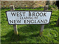 TL2866 : West Brook sign by Adrian Cable