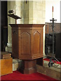 NY9371 : St. Giles Church, Chollerton - pulpit by Mike Quinn