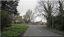 SK8975 : A57 junction ahead near saxilby by Steve  Fareham