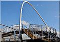 C9525 : Footbridge, Ballymoney station (April 2014) by Albert Bridge