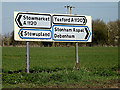 TM0959 : Roadsigns on the A1120 by Adrian Cable