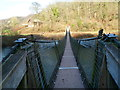 SO5414 : Across a Wye suspension footbridge from Wales to England by Jaggery