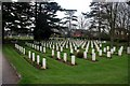 SP1954 : Commonwealth War Graves in Stratford Cemetery by Graham Hogg