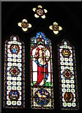 NY9371 : St. Giles Church, Chollerton - east window by Mike Quinn