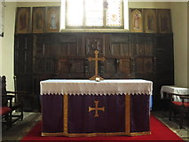 NY9371 : St. Giles Church, Chollerton - altar and reredos by Mike Quinn