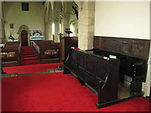 NY9371 : St. Giles Church, Chollerton - choir stalls by Mike Quinn