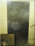NY9371 : St. Giles Church, Chollerton - 17th C grave slab by Mike Quinn