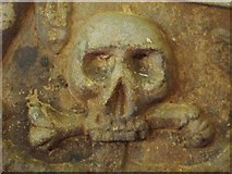 NY9371 : St. Giles Church, Chollerton - grave slab (detail) by Mike Quinn