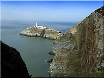 SH2082 : South Stack Lighthouse from the Coastal Path by Chris Heaton