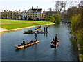 TL4458 : Punting on The River Cam near Clare Bridge by Sandra Humphrey