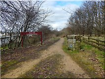 NS4962 : Entrance to Jenny's Well Local Nature Reserve by Lairich Rig