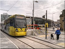 SD8913 : Metrolink Terminus, Rochdale Town Centre by David Dixon