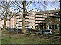 TQ3278 : Dawes House across Orb Street, from Nursery Row Park, Walworth by Robin Stott