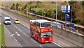 J3775 : Open-top bus, Sydenham bypass, Belfast (April 2014) by Albert Bridge