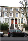 TQ2785 : Victorian terrace, Upper Park Road, Belsize Park by Kate Jewell