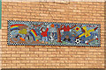 TQ2785 : Mosaic Murals in Russell Nurseries Estate (1) by Kate Jewell