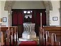 SK7243 : The font, St Wilfrid's, Screveton by Alan Murray-Rust