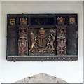 SK7243 : The arms of Charles II, Screveton church by Alan Murray-Rust