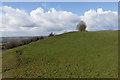 ST6640 : Small Down hill fort by Peter Facey