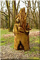 NX3869 : Wooden Sculpture at the Mill Hill Trail, Barclye by Billy McCrorie