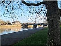 SK5838 : Towards Trent Bridge on an April morning by John Sutton
