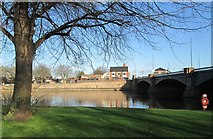 SK5838 : Early April at Trent Bridge by John Sutton