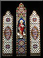 NY8777 : St. Giles Church, Birtley - stained glass window by Mike Quinn