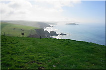 SX6345 : Looking back on the coastal path by jeff collins